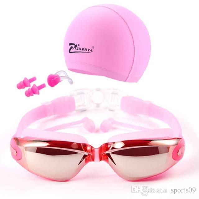 Miyopi Yüzme Gözlük Kapaklar Eeywear HD Shortsighted Yüzme Gözlük Diyoptri Gözlük Kaplama lens Swim Havuzu Kullanımı Aksesuarları 3 adet / takım