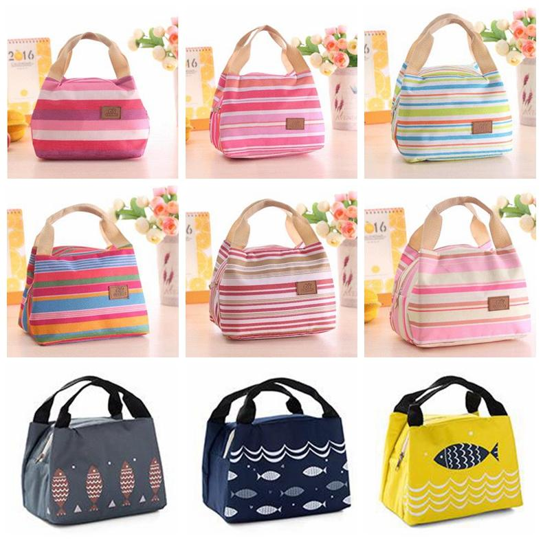 Women Lunch Bag Insulated Picnic Bag Streaky Thick Thermal Canvas Bags  Large Capacity Bottle Food Storage Handbag GGA702 Handbag Wholesale Womens  Bags From ... 6ddc4b7de