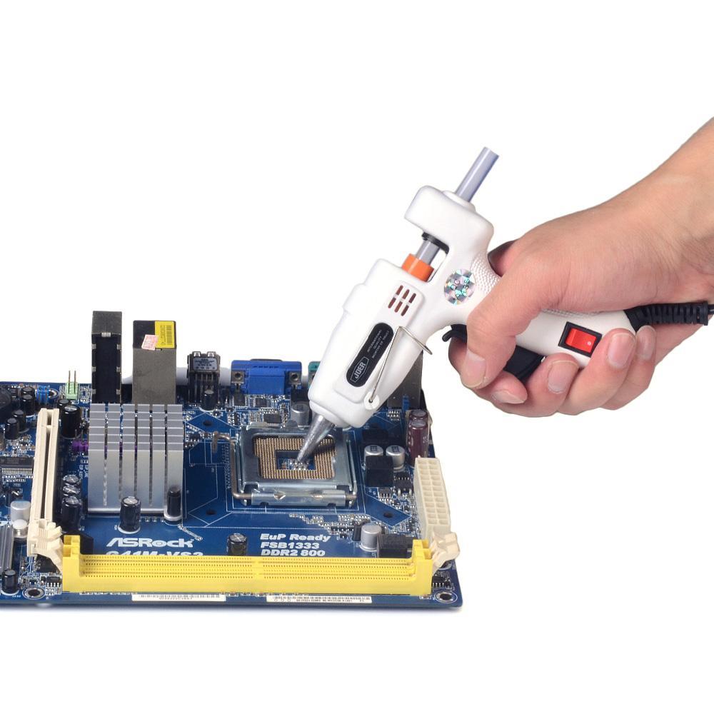 Freeshipping Mini Hot Glue Gun 25W Profesional Handy Calentador de alta temperatura Pistola de pegamento Hot Melt con 50 piezas / lote Sticks de pegamento Calefacción Calentador práctico