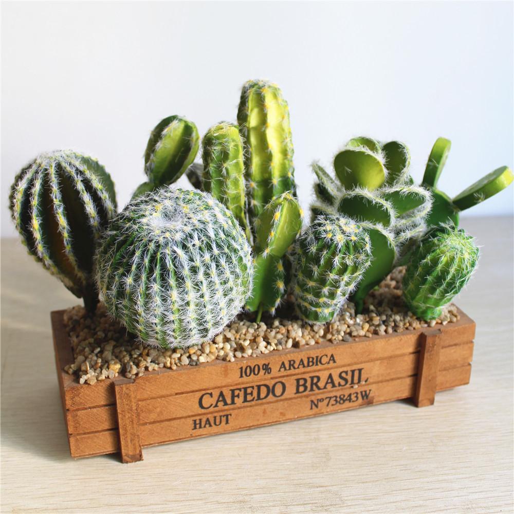 Finest 2018 Various Artificial Cactus Succulent Fake Green Pu Desert  TX24