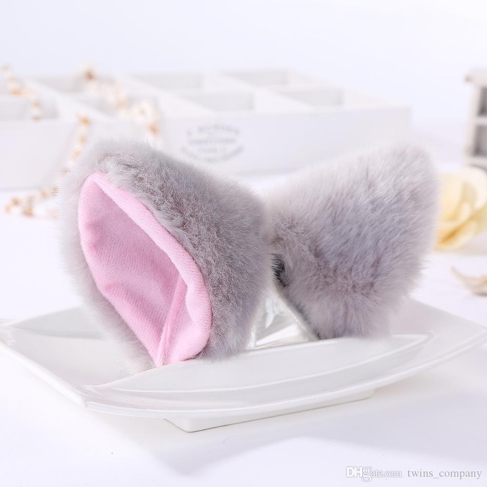 New Hair Accessories Girl Cute Cat Fox Ear Long Fur Hair Barrettes Anime Cosplay Party Costume