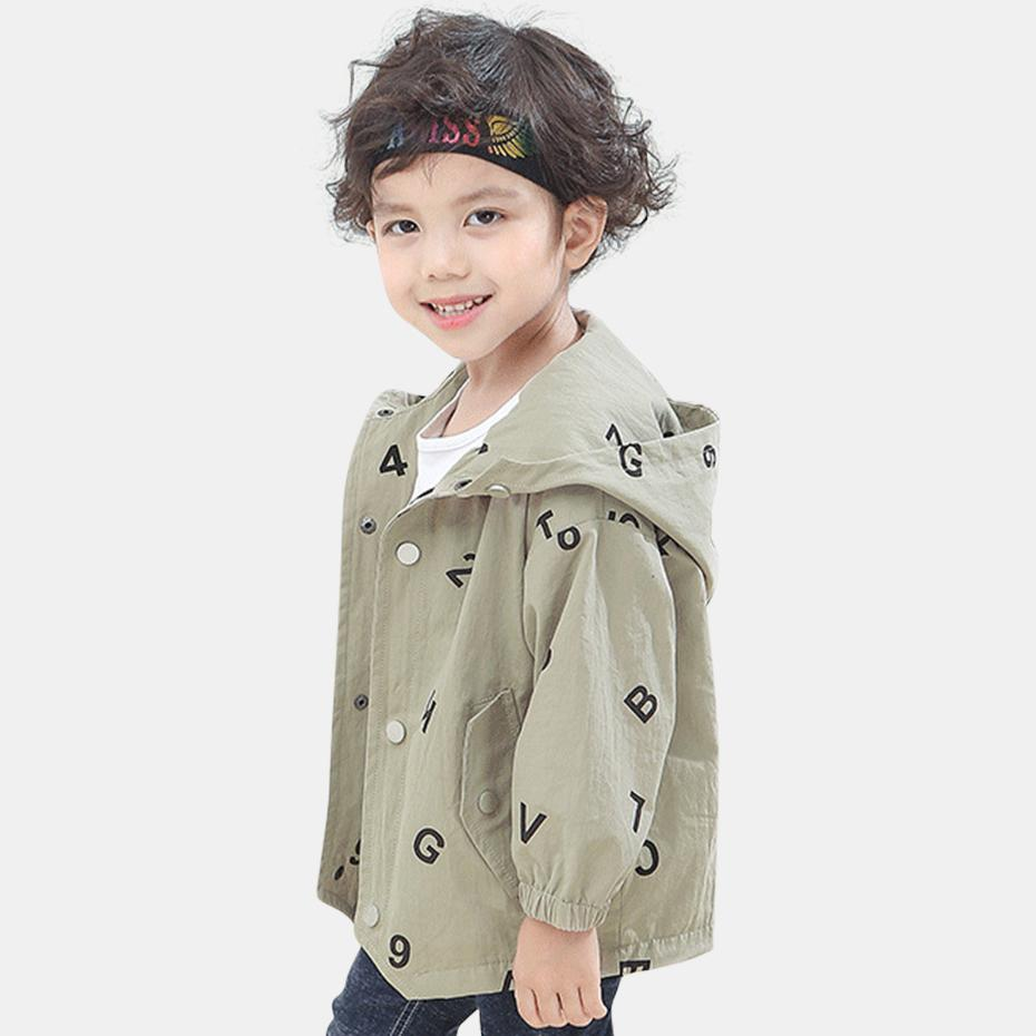 fc20be8e6 Jackets For Baby Boys Hooded Print Boys Jackets Long Sleeve Autumn ...