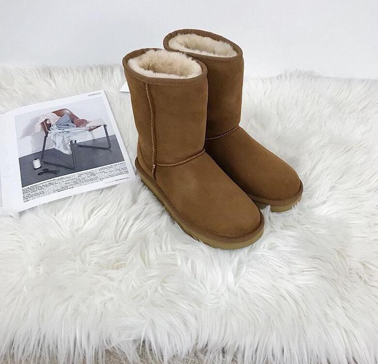 5aec673e74048 2018 Australia Real Sheepskin Fur And Warm Real Wool Waterproof ...