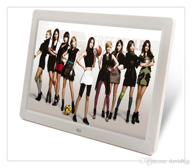 Ücretsiz kargo DHL Dijital Fotoğraf Çerçeveleri 7 inç TFT LCD Geniş Ekran Masaüstü Dijital Fotoğraf Çerçevesi cam Fotoğraf Çerçevesi