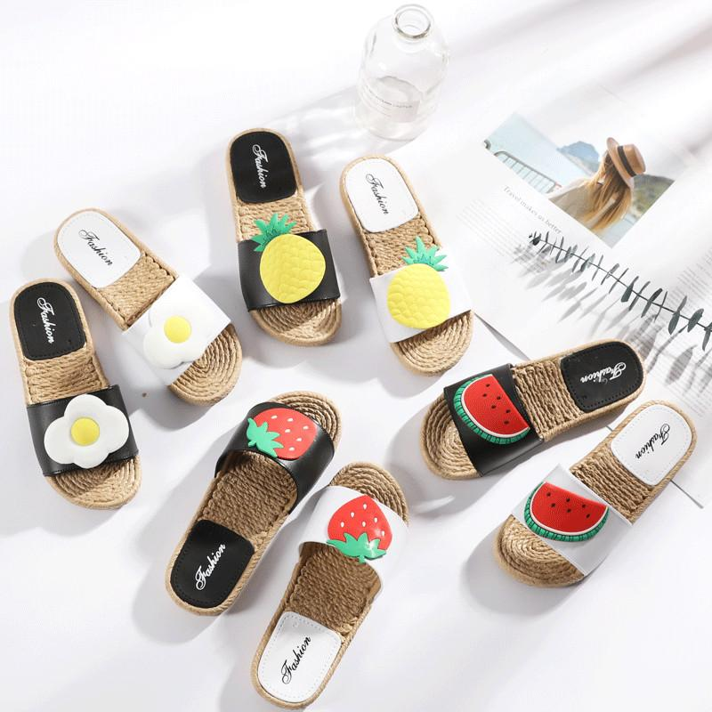 f2cef4c9c24ee Cheap Summer Womens Slippers Cute Fruit Sandals Sweet Girls Slippers Flat Flip  Flops Sandals Beach Slippers EH030