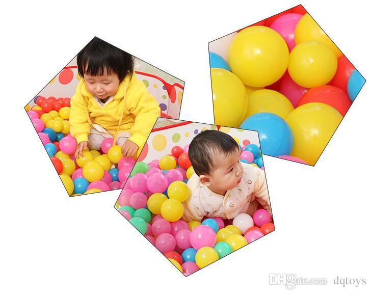 Ecológico Colorido Bola De Plástico Brinquedos Macios Bolas Do Oceano para a Piscina Bebê Nadar Pit Toy Stress Air Ball Esportes Ao Ar Livre