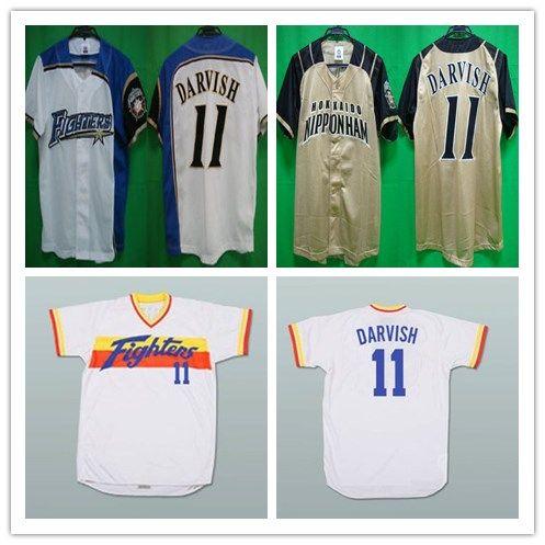 new product 52972 8fb77 Custom XS-6XL Yu Darvish Hokkaido Nippon-Ham Fighters Baseball Jersey  Stitch Sewn Any Name Or Name Free Shippig