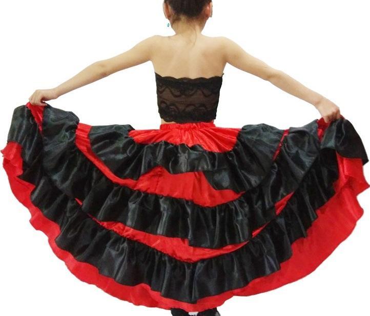 673709154eb0 Acquista Costume Da Ballo Ragazza Spagnola Vestito Rosso Gonna Nera Bambini  Scialle Danza Abiti Ragazze Flamenco Gonna Danza Del Ventre A  27.78 Dal ...