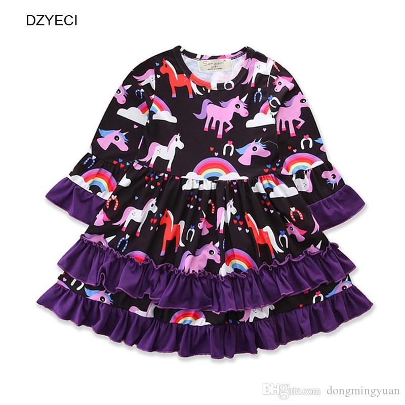 a608f8df5d86 Unicorn Dress For Baby Girl Costume Halloween Carnival Children ...
