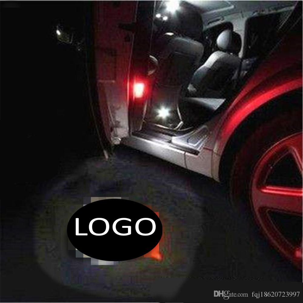 for Dodge for Scania 2PCS LED Car Door Welcome Light Laser Projector Logo  Shadow Light Car-styling Car Interior Decoration Light