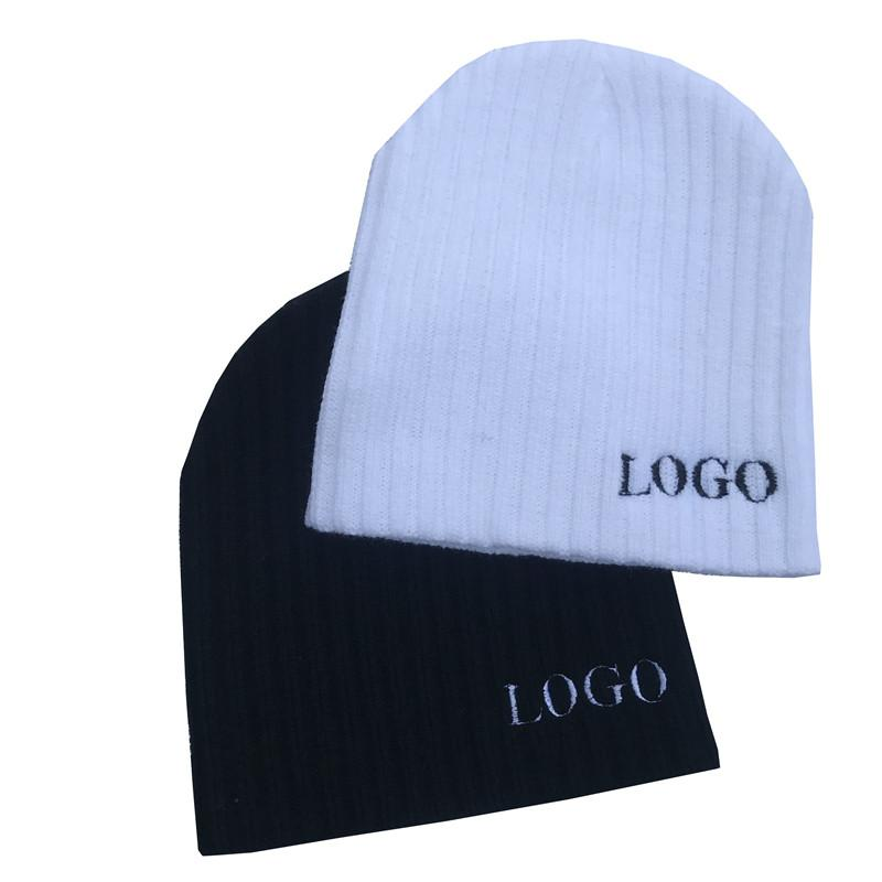 f5704e9e1b6 2019 Winter Beanie Men Skullies Embroider LOGO Letter Customized Beanie Hat  Mens Winter Solid Color Warm Knit Ski Skull Cap From Jingtianwat