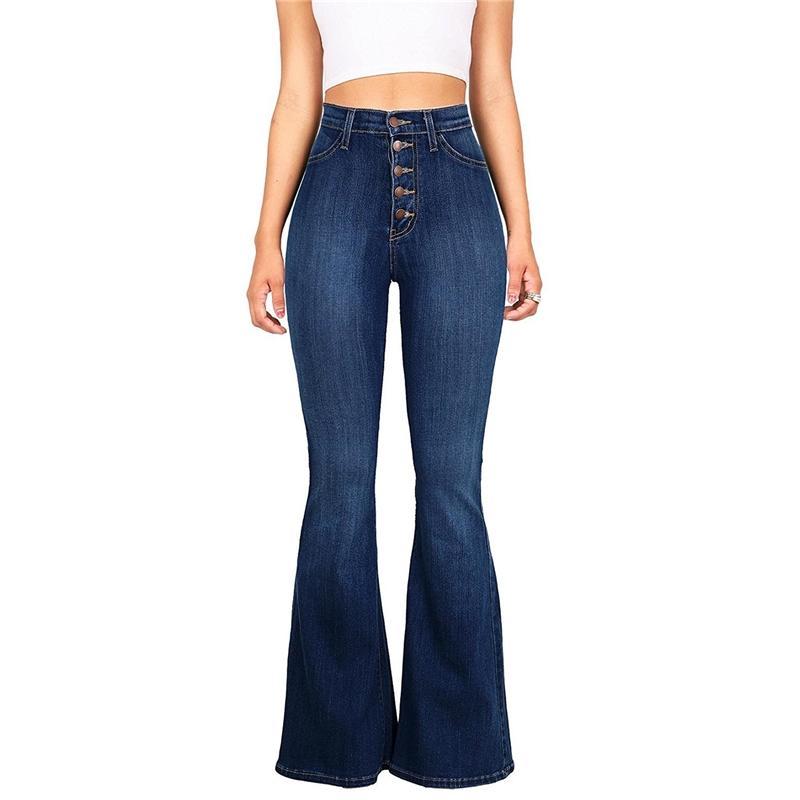3b9a3b42996 Compre FATOBENERY Skinny Denim Jeans Mujer Botones De Cintura Alta  Pantalones De Tamaño Completo Pantalones De Cuerpo Entero Levantamiento De  Glúteos Casual ...