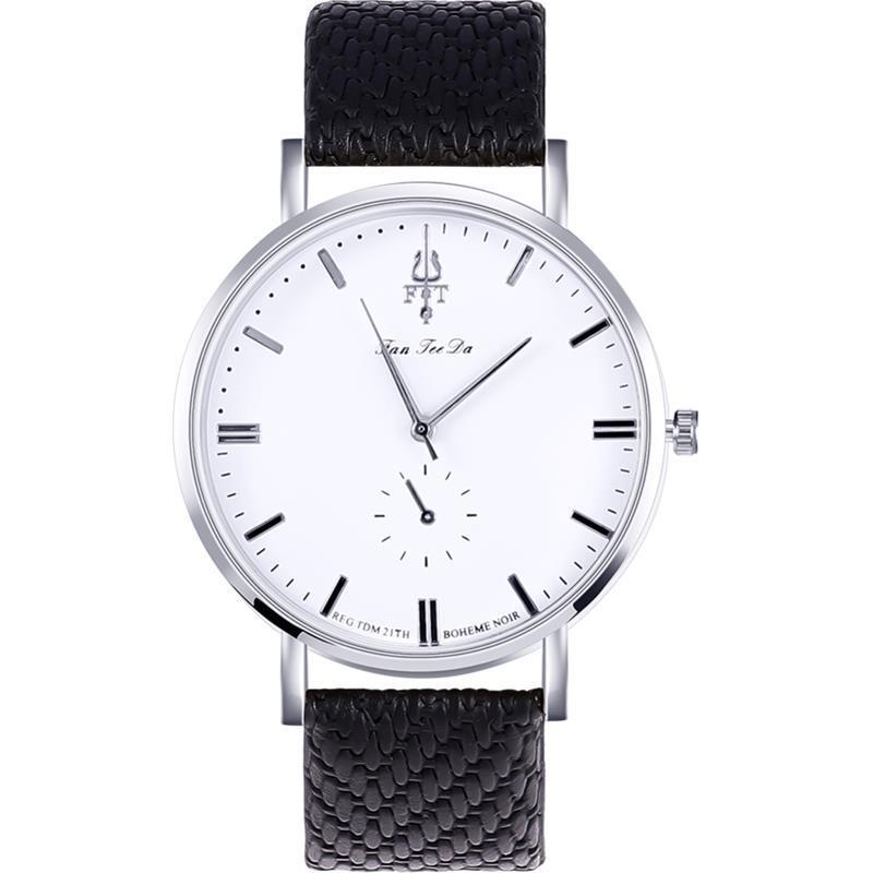 ab72fce33c25 SHAARMS Untrathin Women Leather Round Quartz Waterproof Watches Ladies  Fashion Simple Analog Watch Luxury Two Dials Clock Hot Wrist Watches Buy  Online ...