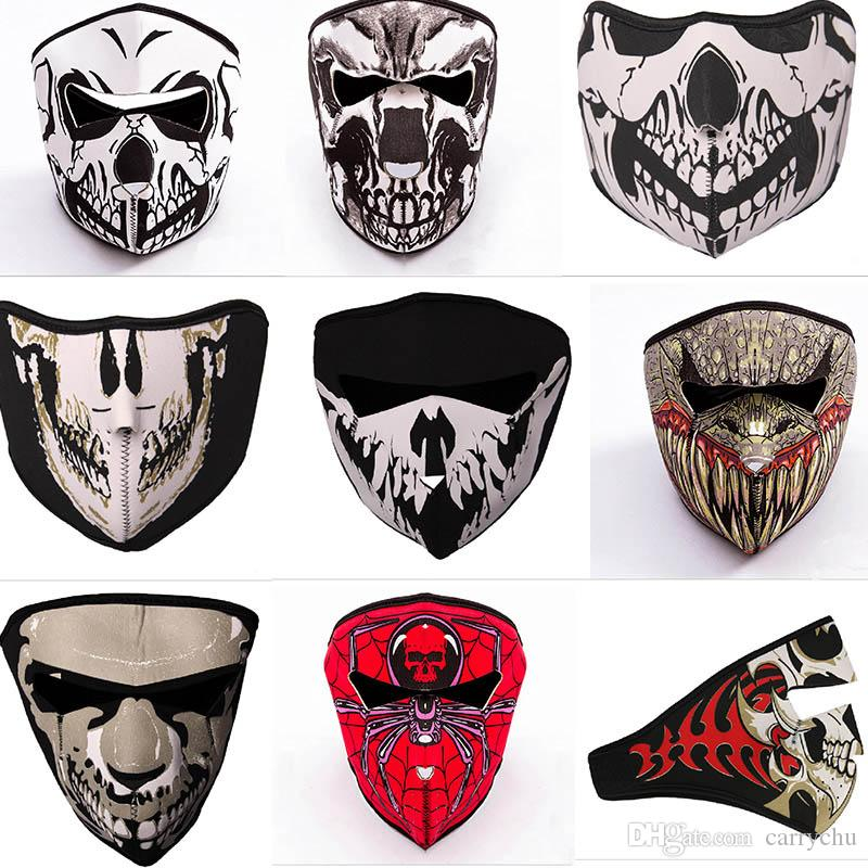 navy seals and tactical skull mask outdoor windproof breathable cs
