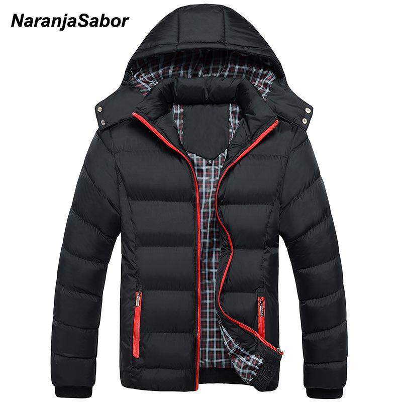 NaranjaSabor 2018 Winter Männer Dicke Mäntel Mit Kapuze Parkas Herren Jacken Warme Atmungsaktive Mantel Männlichen Mantel Herren Marke Kleidung 5XL