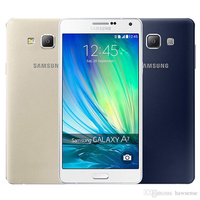 01984cb5394 Teléfono Celular Reacondicionado Original Samsung Galaxy A7 A7000 Dual SIM  5.5 Pulgadas Octa Core 2GB RAM 16GB ROM 13MP Cámara 4G LTE Móvil Sin DHL  Tienda ...