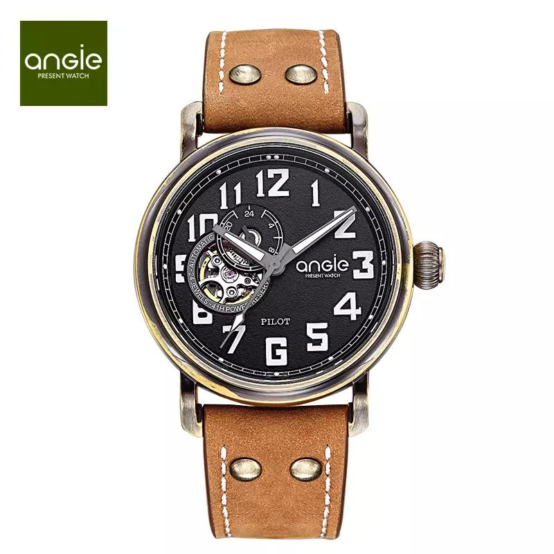 f8cdca7f4e9 Angie Women S Men Unisex Waterproof Pilot Automatic Mechanical Watch  Imported Hollow Movement Waterproof Watch Designer Wristwatches  Wristwatches From ...
