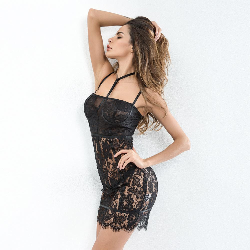 Womens Crochet Lace Backless Sling Solid Dresses Sexy Underwear Erotic  Lingerie Pajamas For Women Temptation Lingerie High Quality Hotsale Luxury  Ladies ... 9e59dd2f6