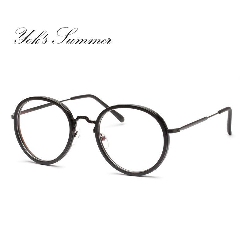 f892a3987b2 2019 Yok S Small Round Eyeglass Frame Retro Thin Metal Optical Spectacle  Glasses Frame Accessory Brand Prescription Eyewear Frame WN100 From Yoks