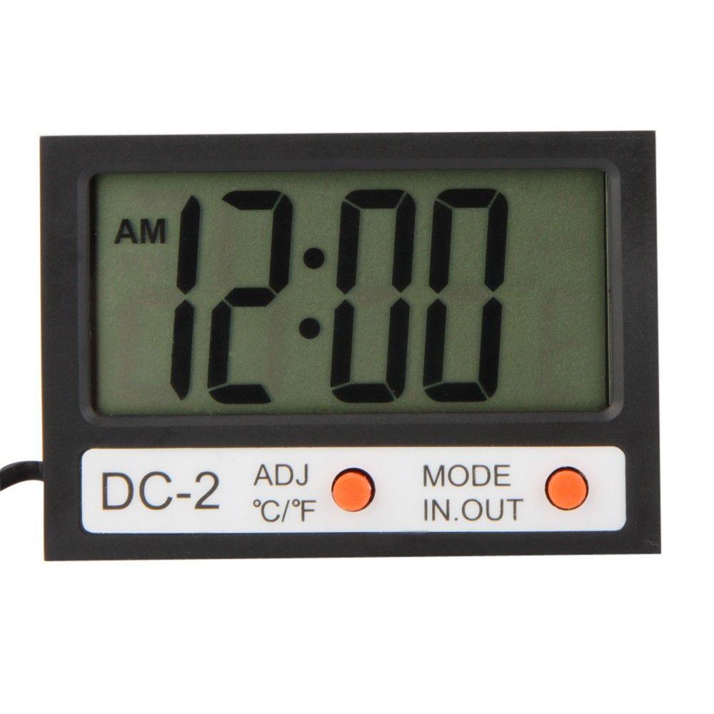 de421ef307b Compre H14477 Interior Exterior Mini Lcd Digital Termômetro Termômetro    Medidor De Temperatura Relógio W   Sonda De Bikeworldwide