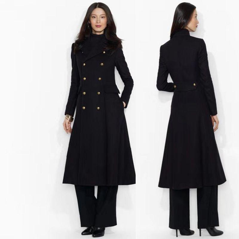 ffaa9c0b57c Acheter Manteau Maxi Manteau Noir En Laine De Soie Élégant Tuxedo Dress  Femmes Longue Costume En Laine Robe Longue Designer Dress Manteau Femme  Laine ...