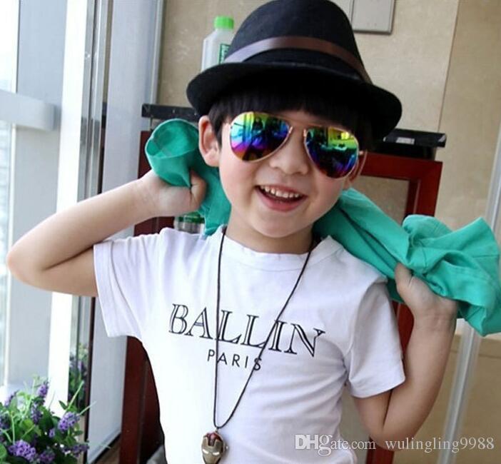 Conception Enfants Filles Garçons Lunettes De Soleil Enfants Plage Fournitures UV De Protection Lunettes De Mode De Bébé Parasols Lunettes es