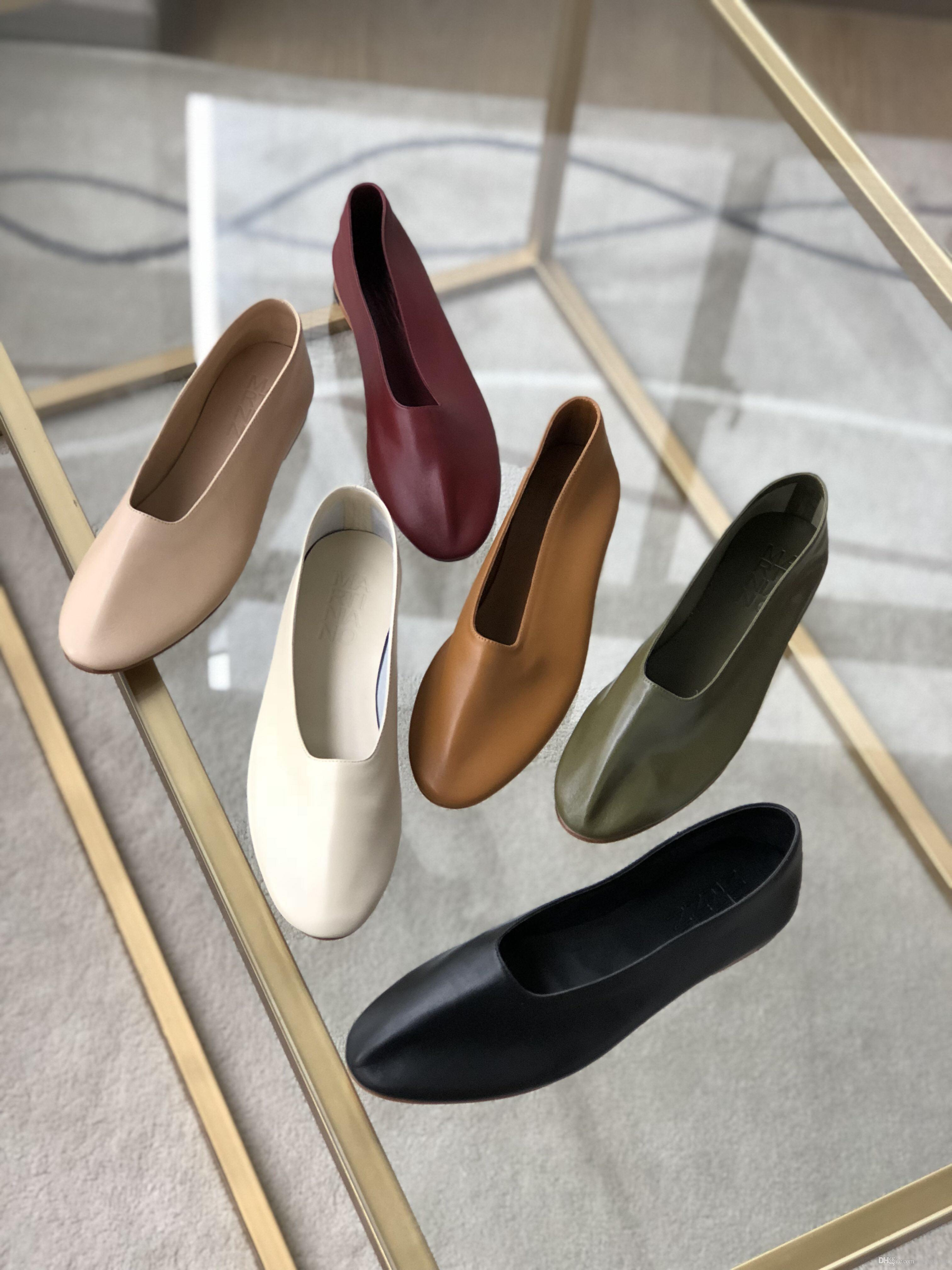 3ab3d92ba3f Acheter Femmes Chaussures Martiniano Mocassins Gant Chaussures Nouvelle  2018 Automne Top Quality Argentine Marque Femmes Tapered Chaton Ballerines  Dolly ...