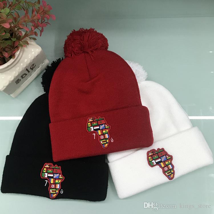 Compre Hot Marca De Luxo Gorros Outono Inverno Homens E Mulheres Hip Hop  Chapéus De Design De Moda Adulto Kid Caps De Esqui Chapéus De Esqui  Presente De ... 4cd076f8219
