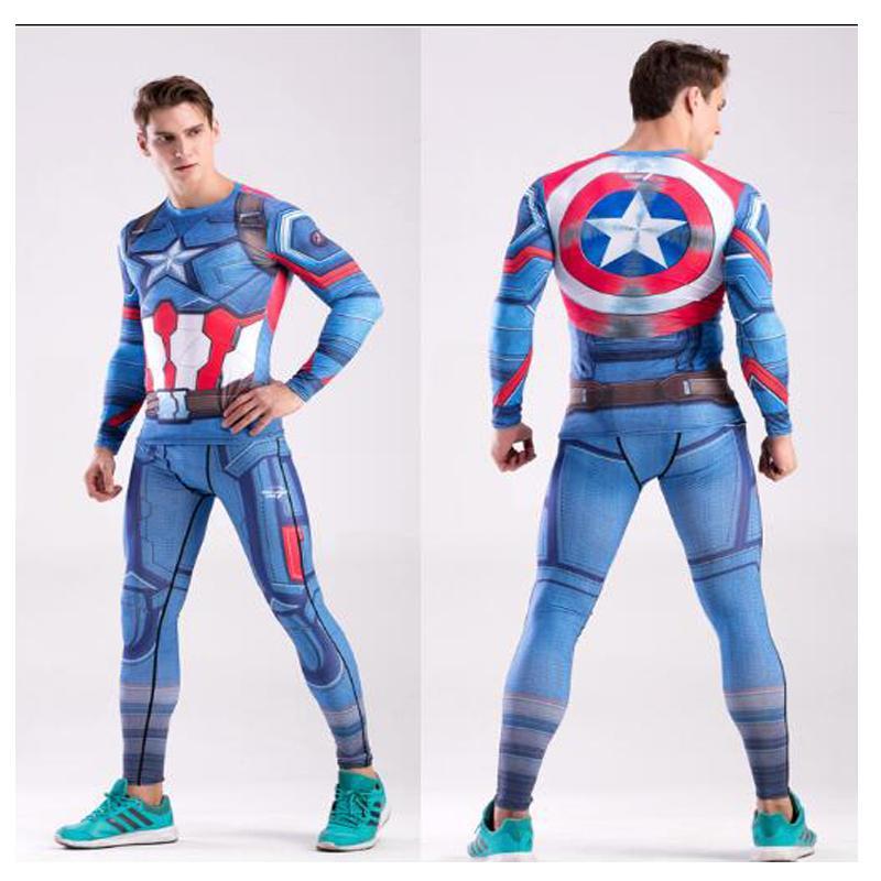 Rashguard Marvel MMA Men s Compressed Shirt Pants Flash Black Winter  Soldier CODY LUNDIN