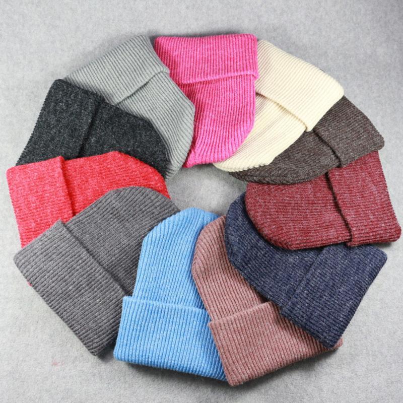 Compre Nuevo 2018 Sombreros De Invierno Para Damas Mujeres Crochet Knit Cap  Skullies Gorros Gorros Calientes Moda Femenina Lindo Sólido De Punto  Elegante ... cb09d0527ad