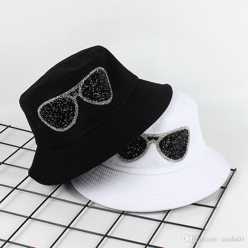 8c5f4cddb Glasses Printed Casual Male Female Designer Hats Men Women Hip Hop Hats  Unisex High Street Bucket Hats