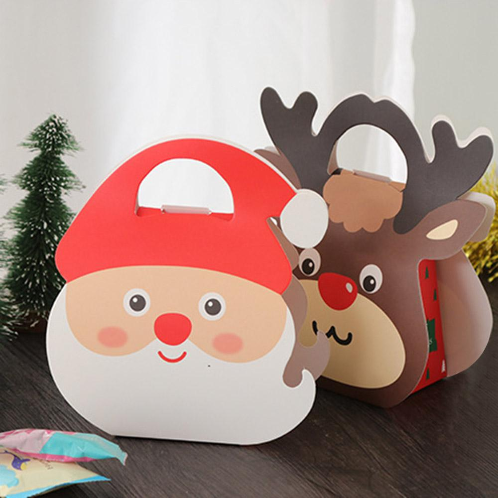 santa claus elk pattern christmas gifts box retro paper candy boxes bag xmas party decoration supplies z40 exterior christmas decorations family christmas - Old Fashioned Paper Christmas Decorations