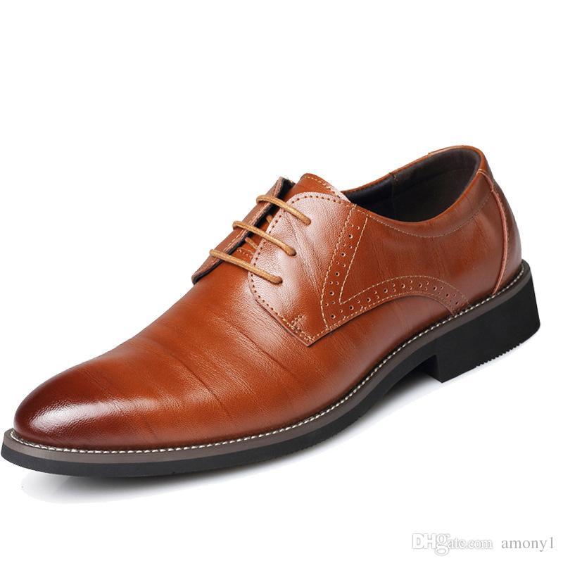 6bc1d8ab48c8 Großhandel Männer Marke Business Casual Schuhe Dressup Büro Große Größe  Schuhe Tragbare Rutschfeste Europäische Mode Wanderschuhe Von Amony1,   78.39 Auf De.