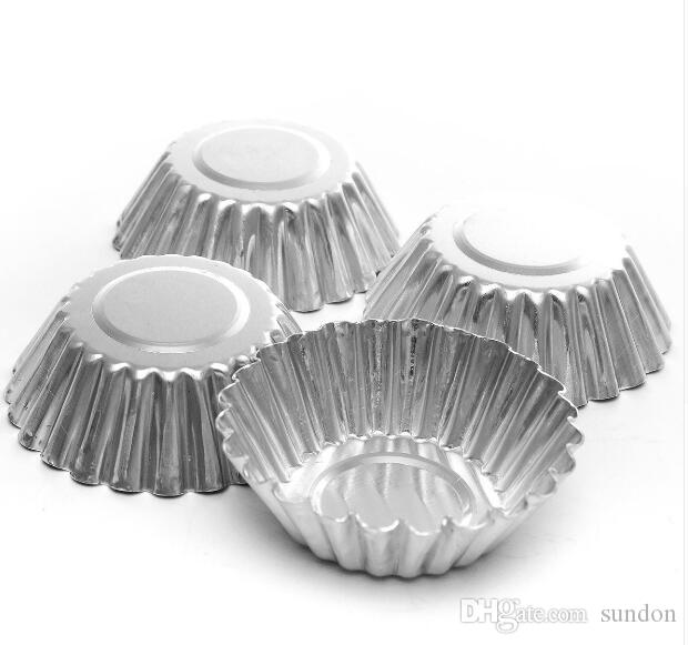 MINI Disposable Flower Style Aluminum Foil Cupcake Muffin Cups Egg Tart Cup Egg Tart Mold Baking Cooking Molds