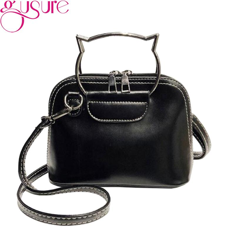 2e97496b745e5 Gusure Soft Leather Bag Women Handbags Solid Color Fashion Shoulder ...
