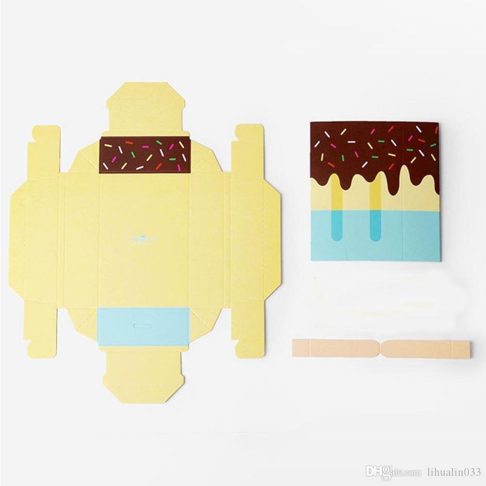 Cute Ice Cream Shape Gift Candy Boxes Kids Party Favor Box Caja de papel plegable