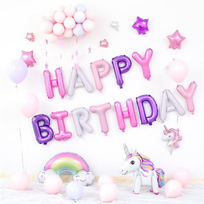 2019 Baby 1St Birthday Party Decoration Adult Unicorn Pony Macaron Balloon Set Wedding PSC116 From Jinggonghome
