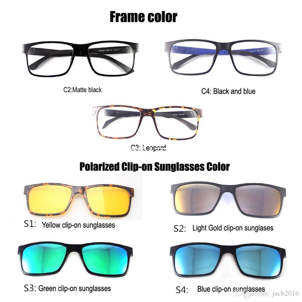 3890877f919ac Compre Gafas De Sol Polarizadas Magnéticas Unisex Gafas De Sol Con Clip  Gafas De Sol Gafas De Plástico Con Protección UV400 Antirreflejo Protegido  A  8.74 ...