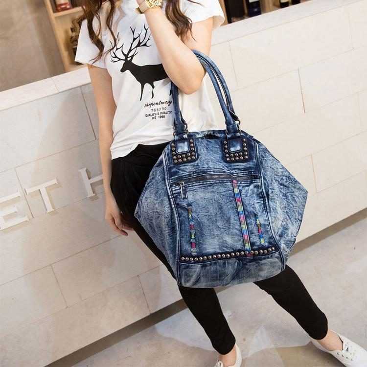 2017 New Fashion Large Luxury Handbags Women Bag Designer Ladies Hand Bags  Big Purses Jean Tote Denim Shoulder Crossbody Designer Purses Satchel Bags  From ... 3421336a69876