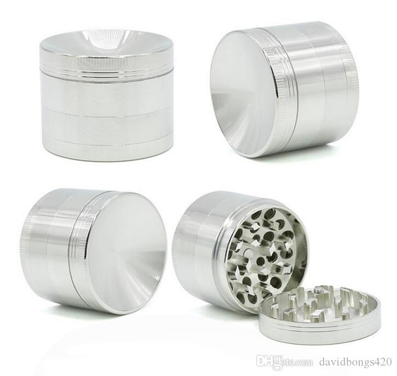 4 Layers Concaver Herb Grinder For Tobacco 50mm Zinc Alloy Herbal Grinder Metal Grinders For Bongs Water Pipes 5916AM