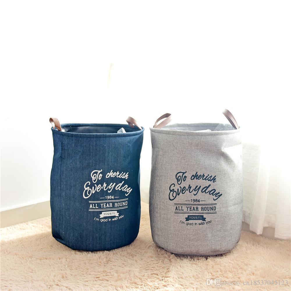 acheter panier À linge sac de rangement avec poignées en cuir panier