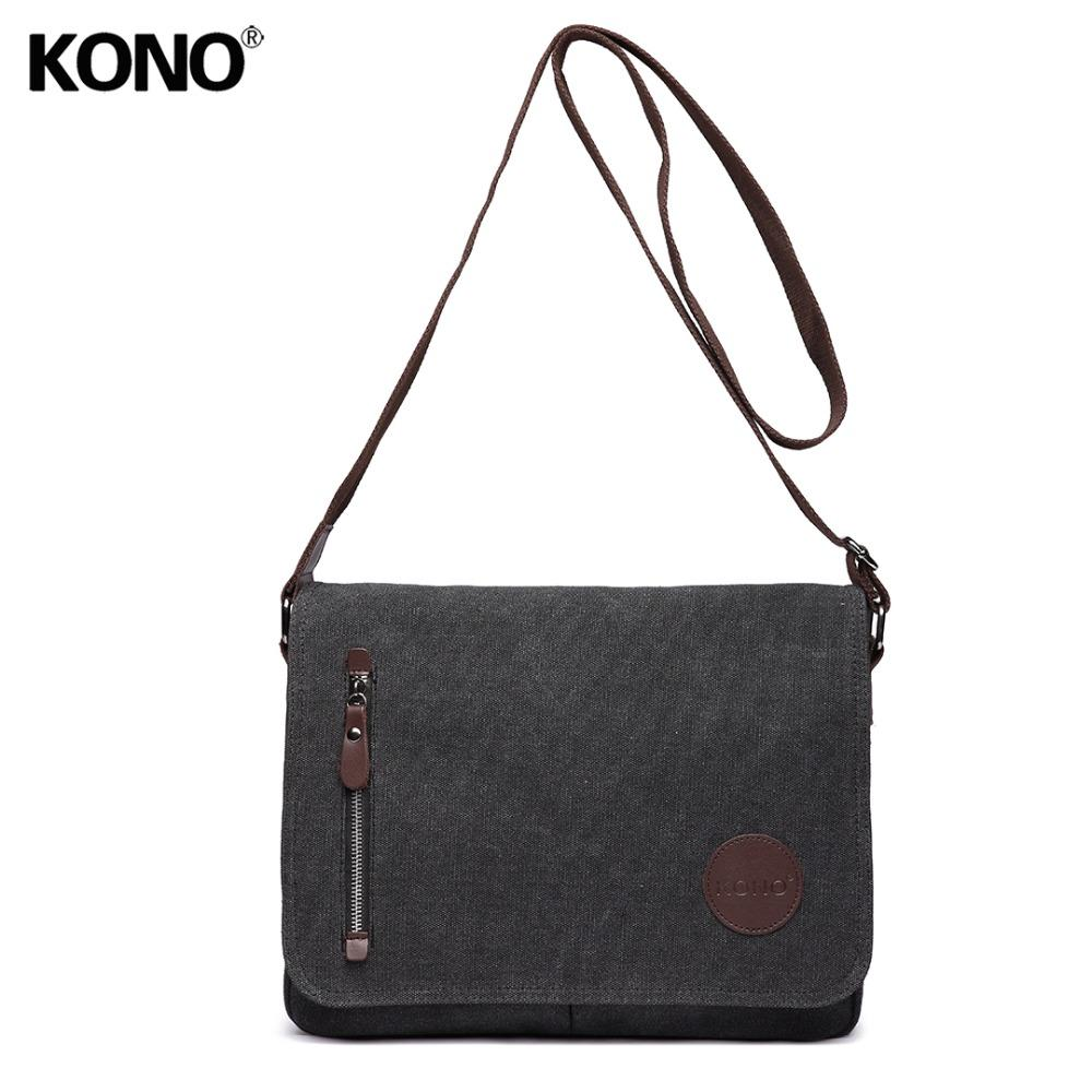 f790455f6c55 KONO Women Men Messenger Bags School Bag For Teenagers Girls Boys College  Student Canvas Zip Cross Body Shoulder Satchel E1824 Designer Handbags On  Sale ...
