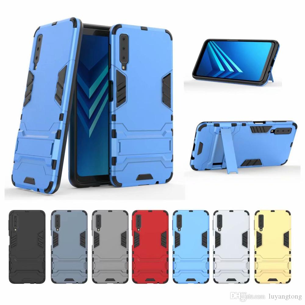 low priced c79b4 60424 GalaxyA7 2018 Armor Case For Samsung Galaxy A7 2018 Case A750 Silicone  Hybrid Shockproof Anti-knock Protector cover A750FN Back Cover
