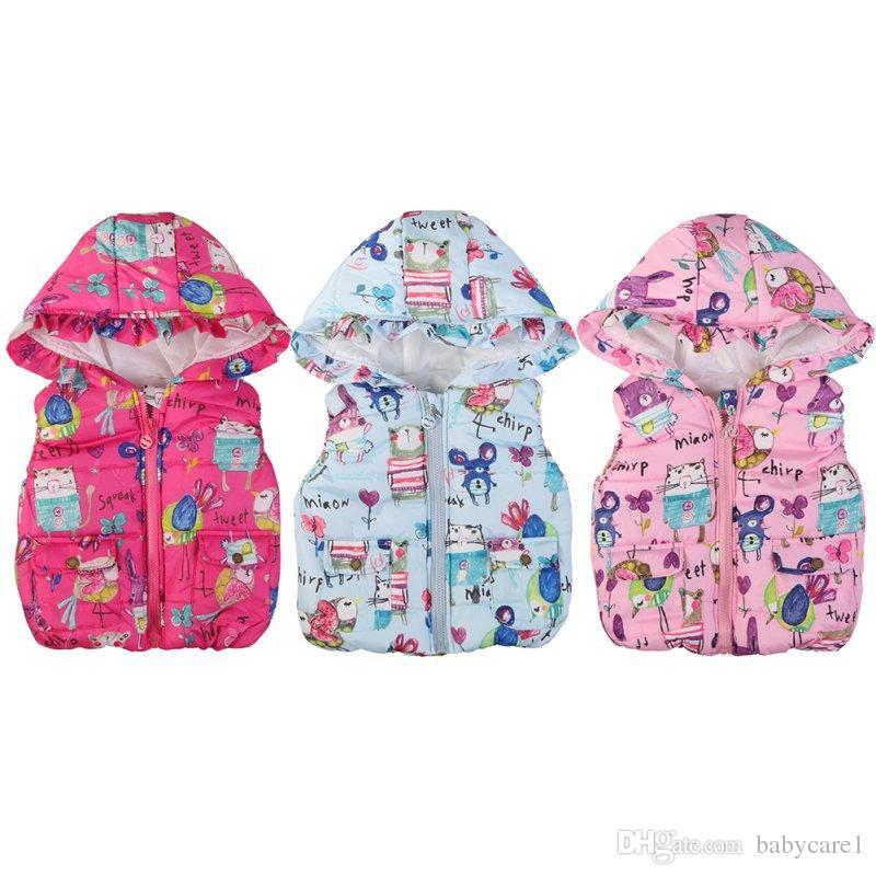 6d3d74a87 Children Clothing Winter Outerwear Coats Animal Graffiti Thick ...