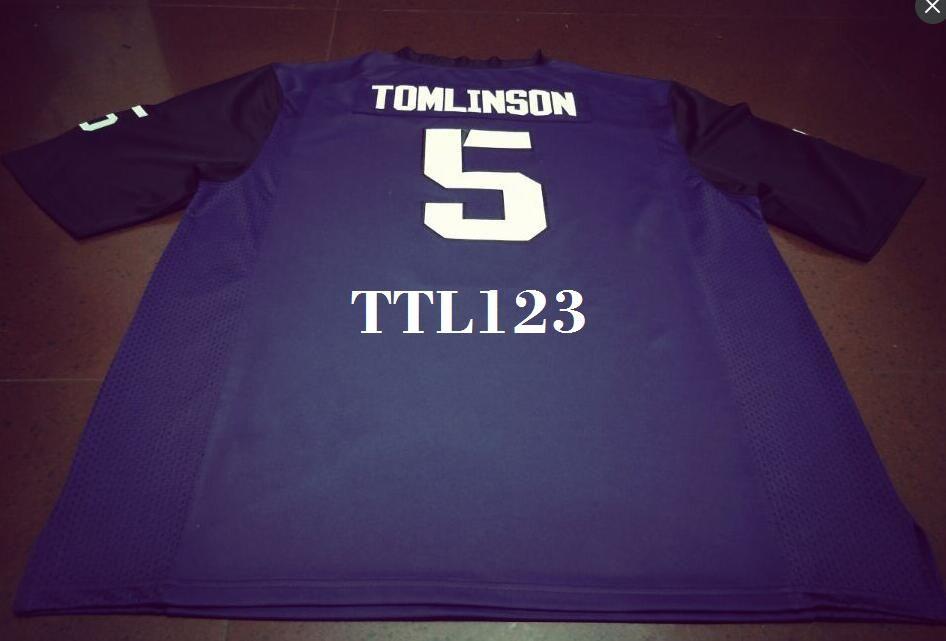 best website 355ef 9c211 Men #5 Purple LaDainian Tomlinson TCU Horned Frogs Alumni College Jersey or  custom any name or number jersey