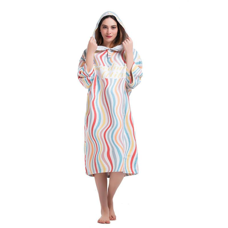 e5b5fc3508 Women s Fashion Printing Changing Robe Bath Towel Fashion Outdoor Adult  Hooded Beach Towel Poncho Women Man Bathrobe Towels LST Decorative Bathroom  Towels ...