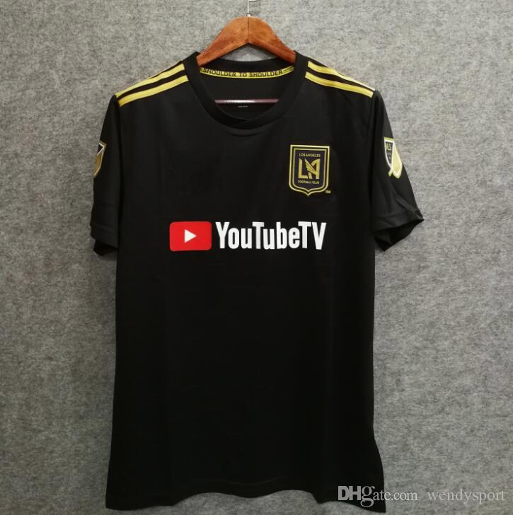 Livre o navio 2018 LA Carlos Vela Camisas de Futebol 18/19 Casa GABER ROSSI CIMAN ZIMMERMAN casa Camisa de Futebol de Alta Qualidade Los Angeles