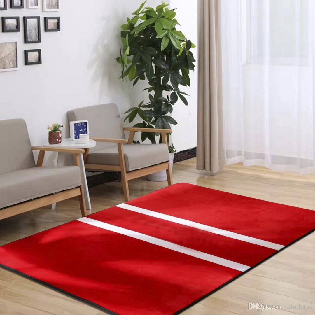 American Style Red S Large Living Room Carpets Non Slip Bedroom Rugs