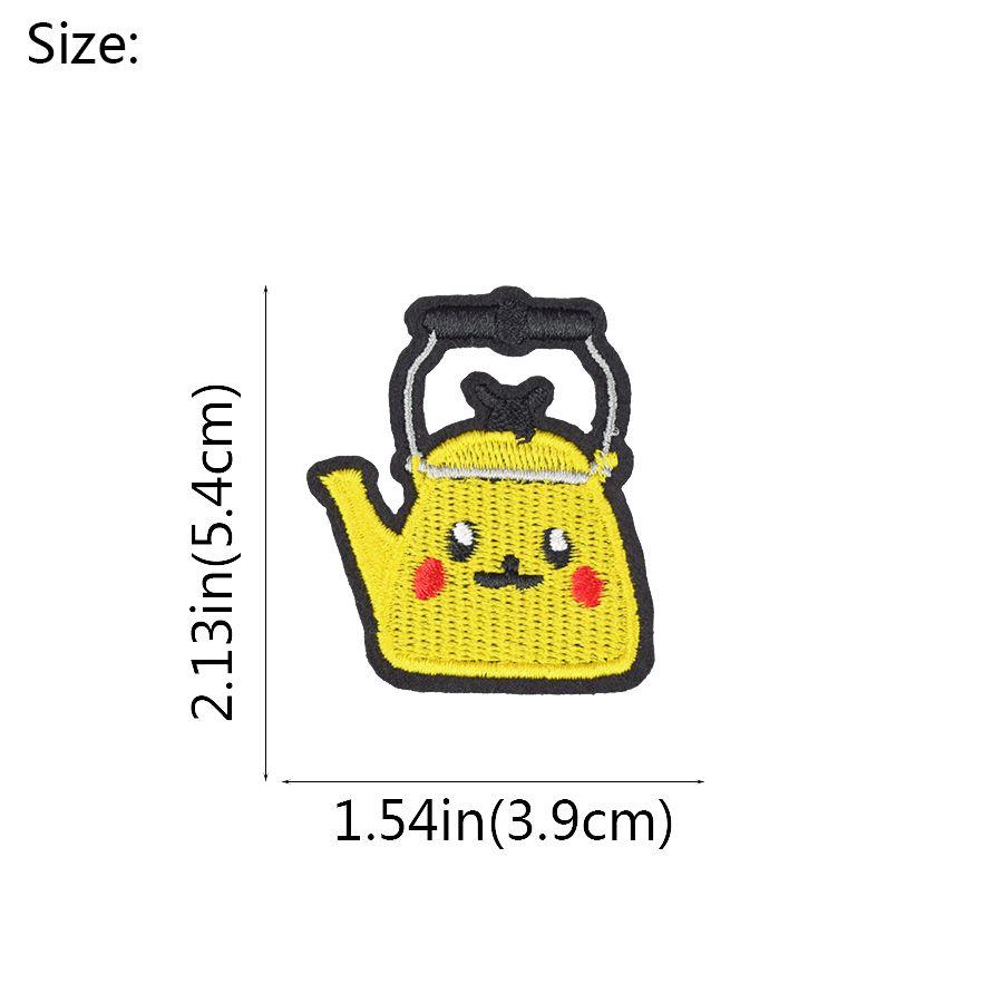 Diy Dos Desenhos Animados Bule Patches para Decalques Retro Remendo Decoração Vestuário Tecido Crachá Jaqueta Camisola Ponto Remendo para Roupas Acessórios