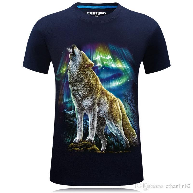 31a1893f05a3 2018 Summer Men S Clothing T Shirt 3d T Shirt Casual Cotton Wolf Printed  Cartoon Short Sleeve Tee Shirt Men Brand Tee Shirt 6XL Funny Vintage T  Shirts T ...